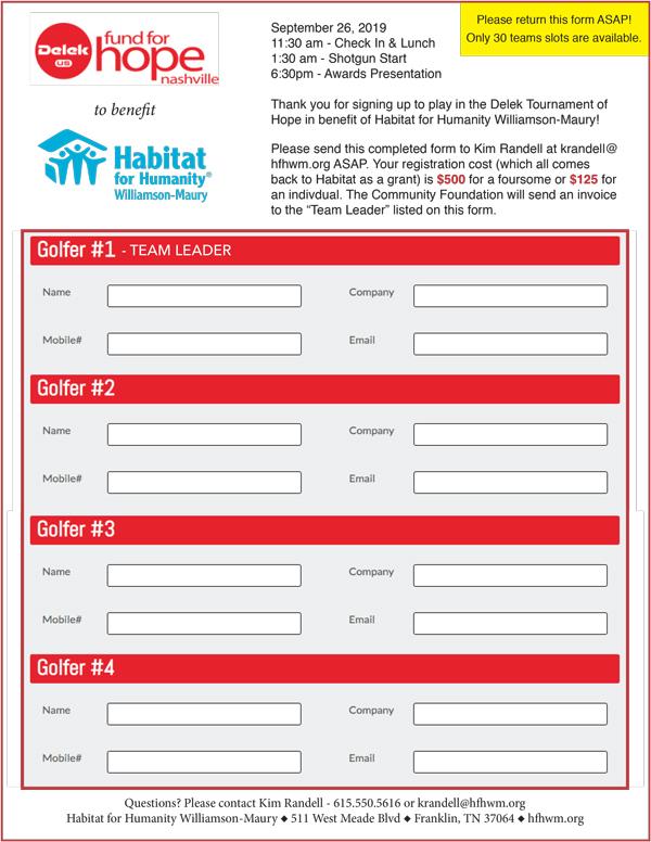 Delek Registration Form