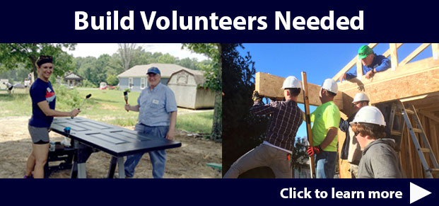 Build Volunteers Needed
