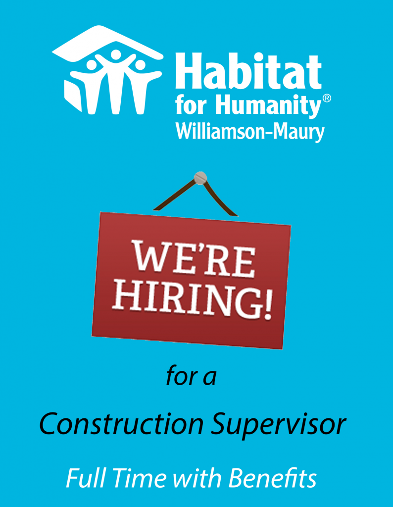 Job Opening: Construction Supervisor
