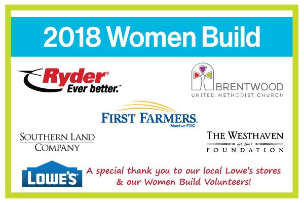 Women Build Sponsors